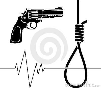 Suicidal thoughts clipart.