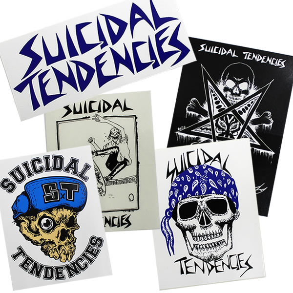 SUICIDAL TENDENCIES LOGO STICKER / logo sticker.