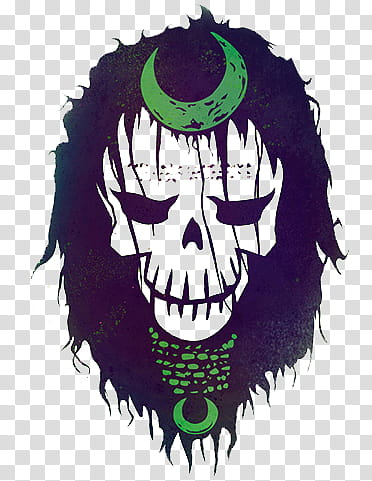 Enchantress Skull Suicide Squad transparent background PNG.