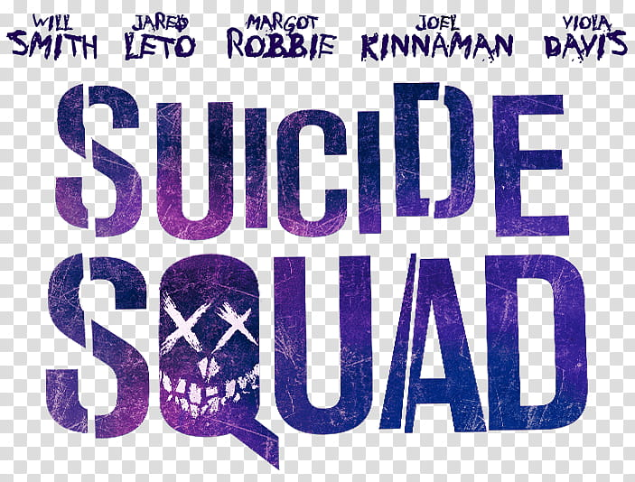 Suicide Squad Stickers, purple Suicide Squad movie title.