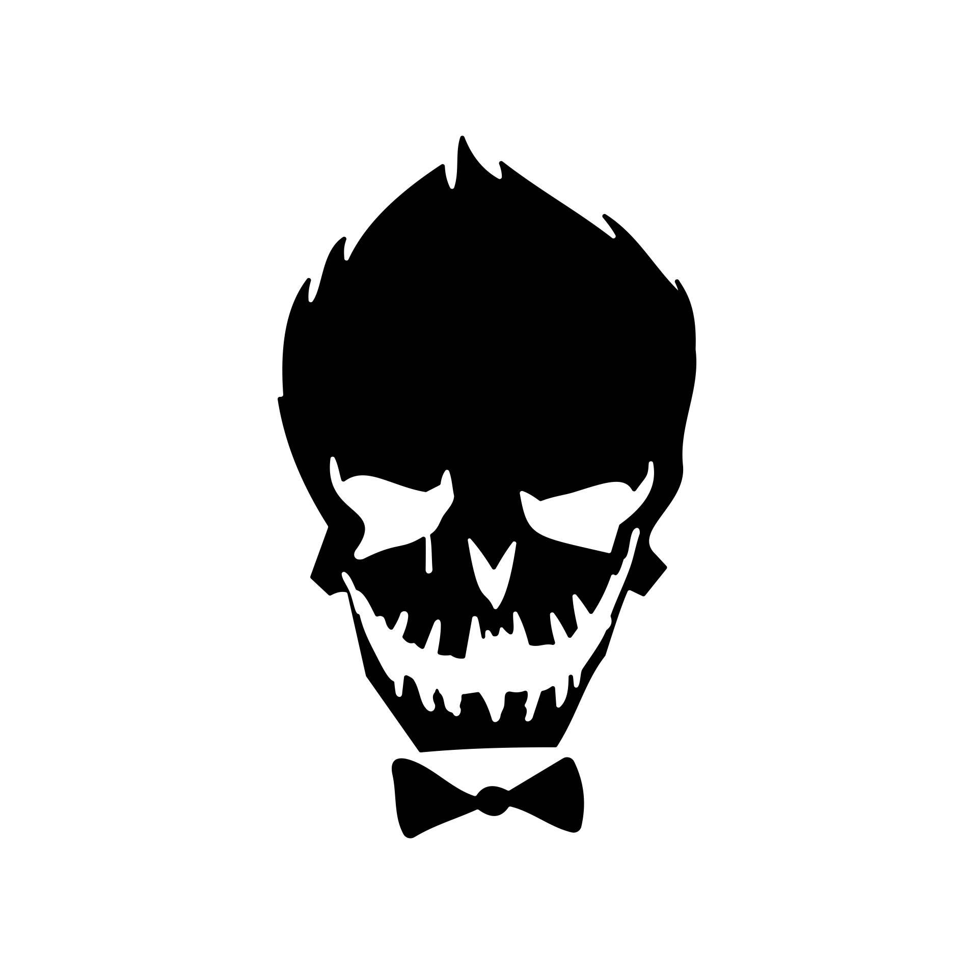 Suicide Squad Joker Silhouette.
