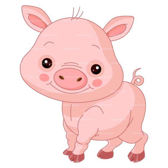 CLIPART CUTE PIG.