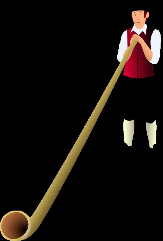 Free Clipart: Alphornbläser.