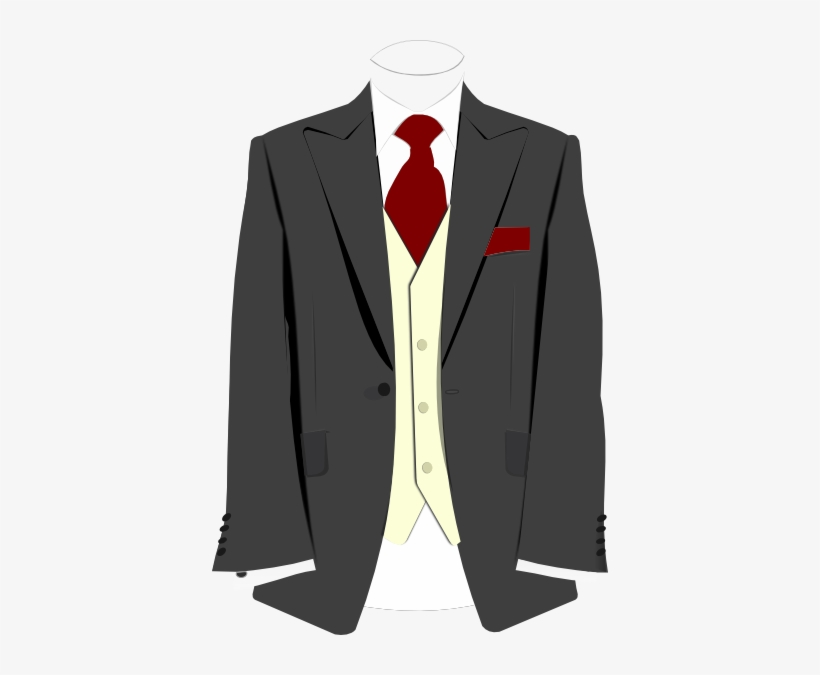 Grey Suit Burgundy Tie Clip Art At Clker.