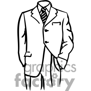 Suit Clipart Black And White.