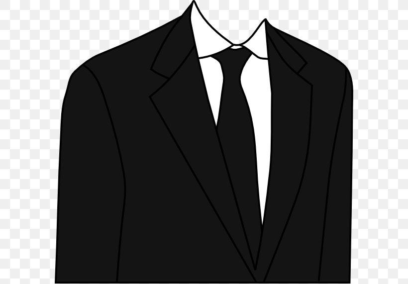 Suit Necktie Clip Art, PNG, 600x571px, Suit, Black, Black.