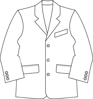Suit jacket clipart.