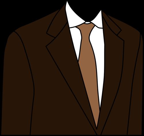 Brown suit jacket vector clip art.