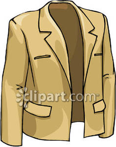 A Tan Suit Jacket Royalty Free Clipart Picture.