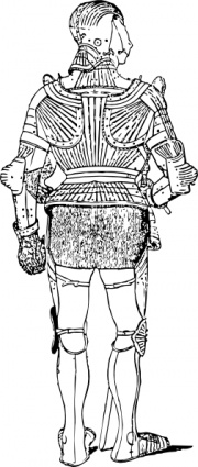 Suit Of Armor Back clip art Free Vector.