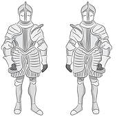 Clipart of Suit of Armor k21693000.