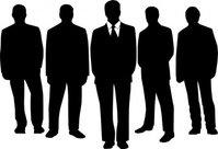 Men Suit Vector.