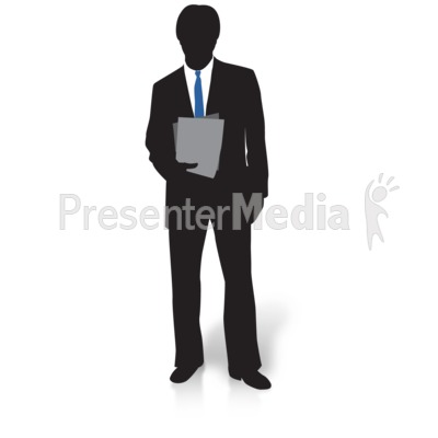 Silhouette of a Man in Suit and Tie.