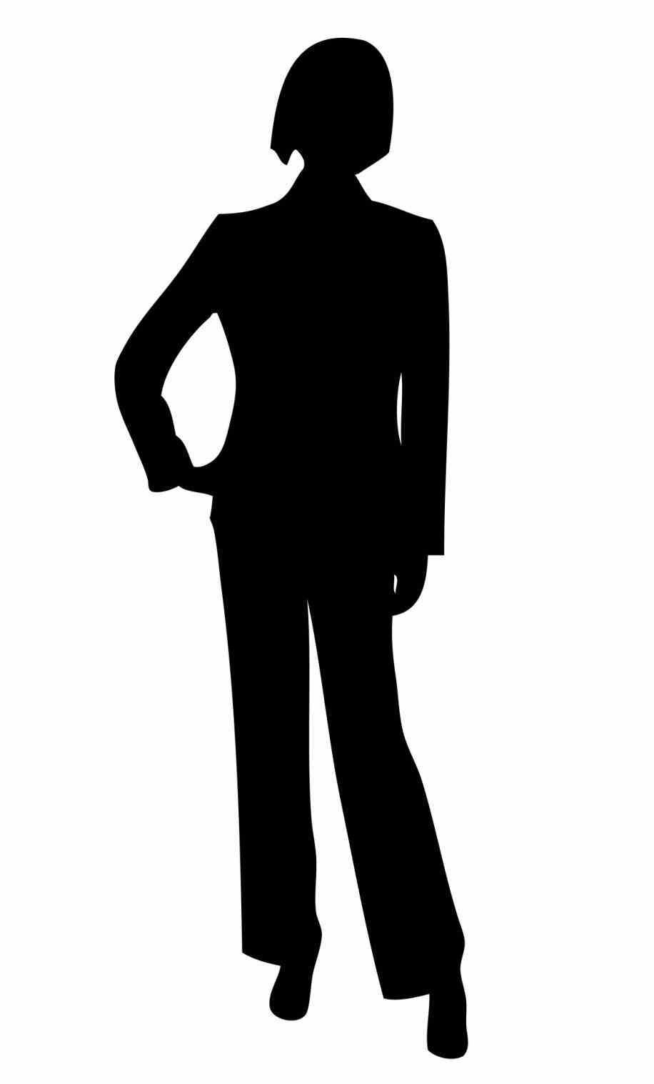 man in suit silhouette clip art.