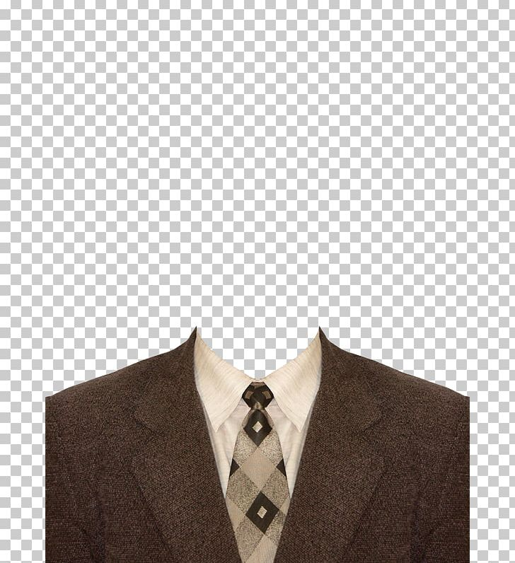 Suit Template Shirt PNG, Clipart, Beige, Brown, Button.