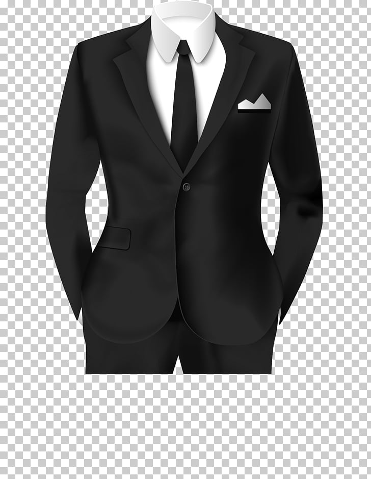 Tuxedo Suit Clothing Formal wear, Black suit work photo.