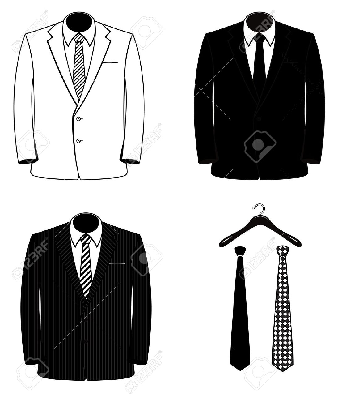3711 Suit free clipart.