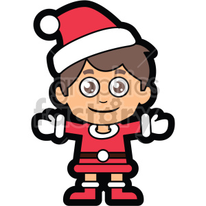 guy dressed in santa claus suit vector clip art clipart. Royalty.