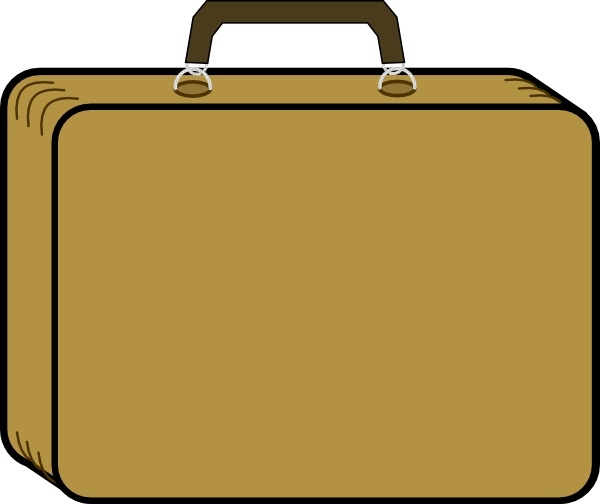 Little Tan Suitcase clip art Free vector in Open office.