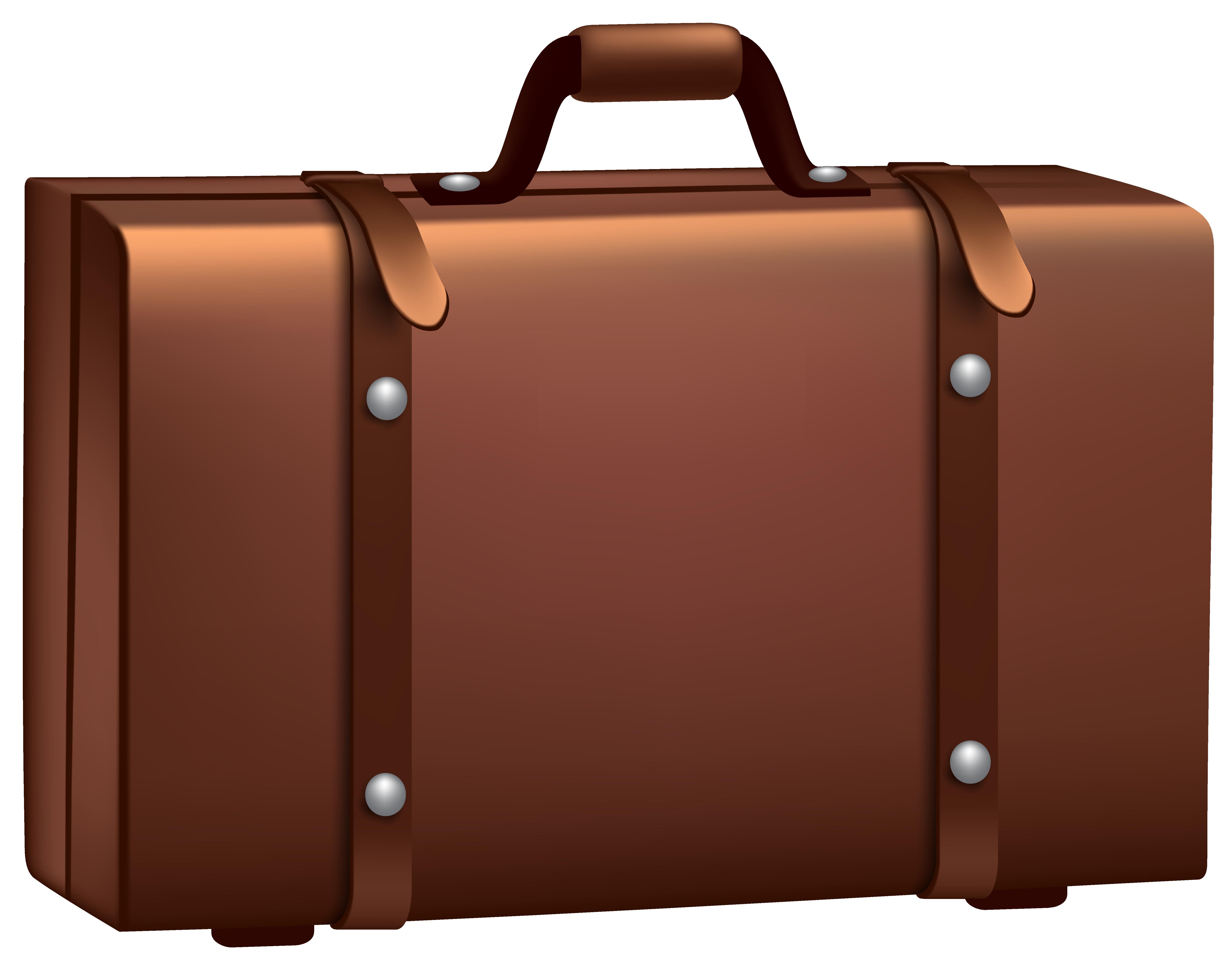 Cartoon suitcase clipart.