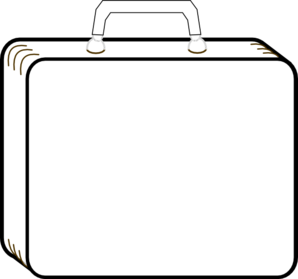 Cartoon Suitcase Clipart.