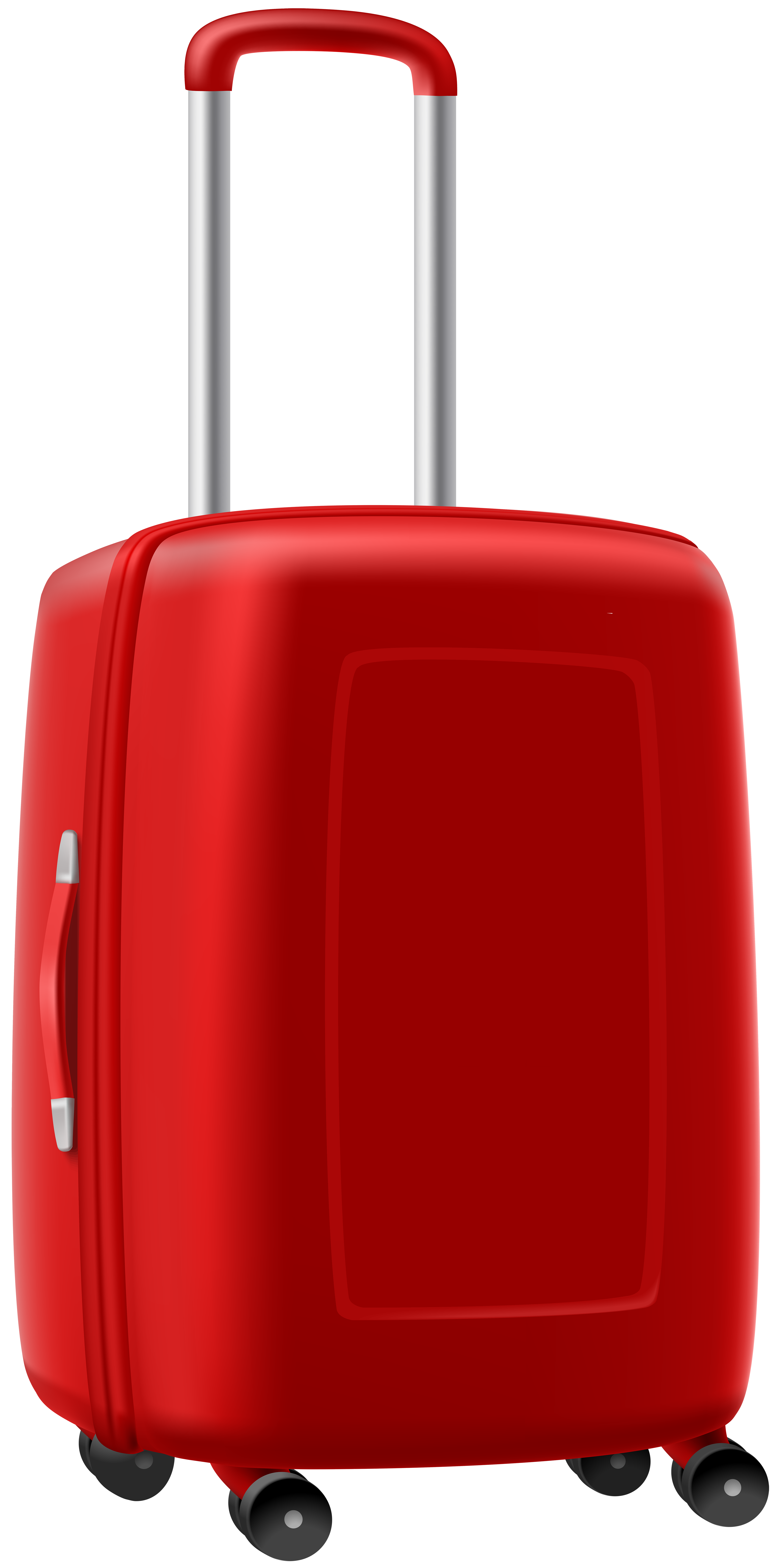 Trolley Suitcase PNG Clipart Image.