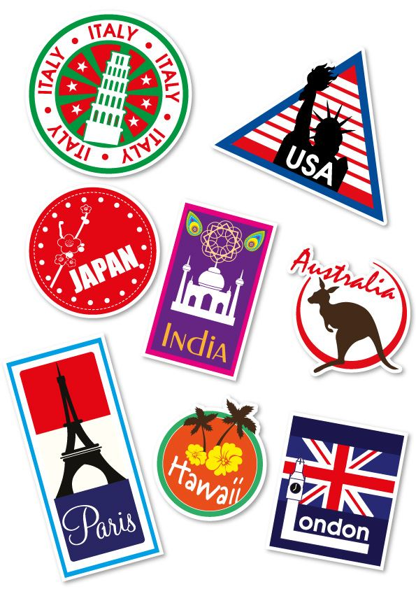 Download suitcase stickers clipart 28 Locations Travel.