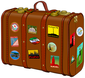 197 suitcase stickers clipart.