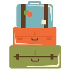 Suitcases Clipart.