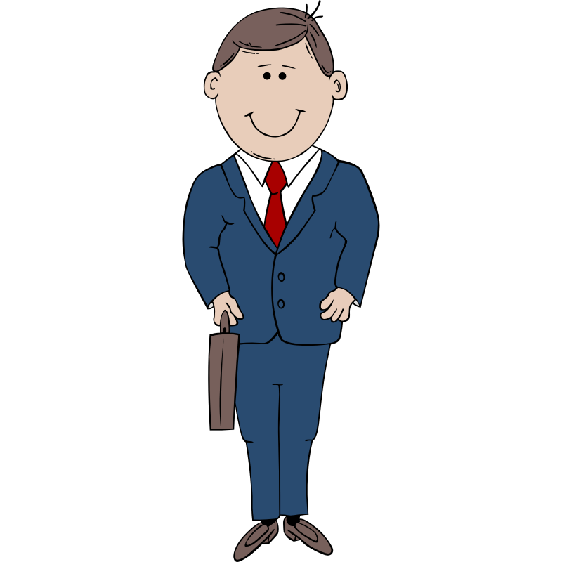 Clipart of young man in suite.