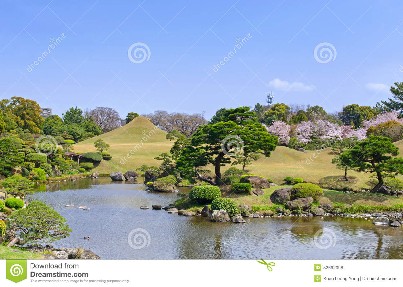 Suizenji Garden In Kumamoto, Japan Stock Photo.