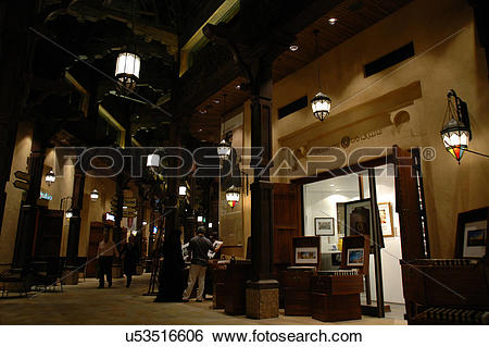 Stock Images of madinat, jumeirah, dubai, souk, market, night.