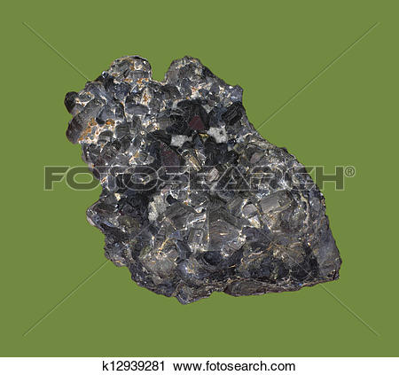 Stock Photography of pyrrhotite iron sulfide mineral k12939281.
