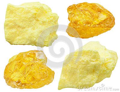 Sulfur Stones Royalty Free Stock Photos.