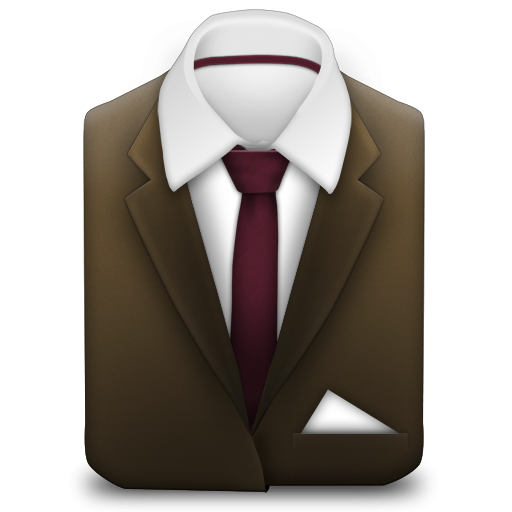Manager Brown Suit Icon, PNG ClipArt Image.