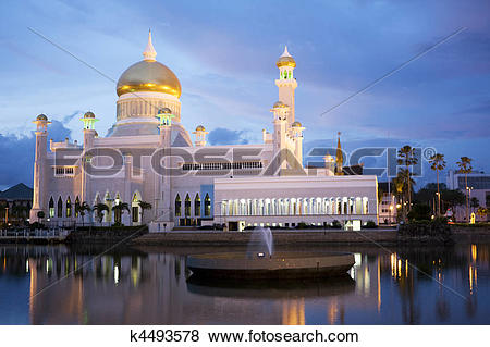 Pictures of Sultan Omar Ali Saifuddien Mosque, Brunei k4493578.