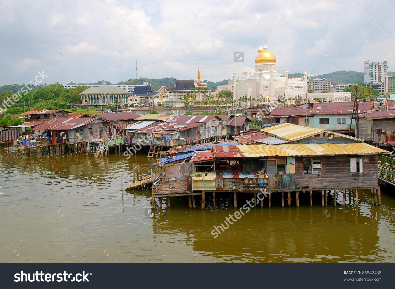 Sultan Omar Ali Saifuddin Mosque In Brunei Stock Photo 86842438.