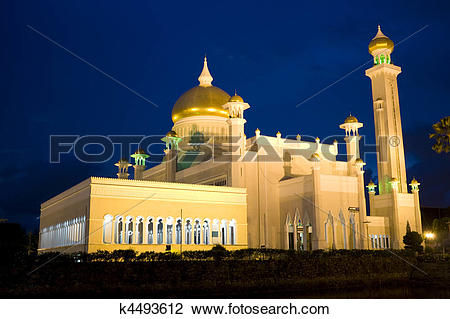 Stock Photo of Sultan Omar Ali Saifuddien Mosque, Brunei k4493612.
