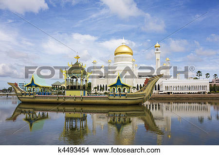Stock Photo of Sultan Omar Ali Saifuddien Mosque, Brunei k4493454.