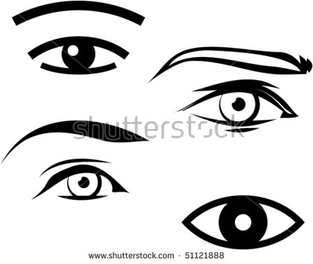 Eyes Woman Clipart Stock Images, Royalty.