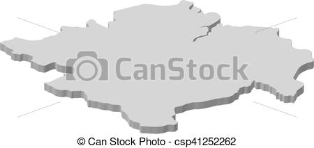 Clip Art Vector of Map.