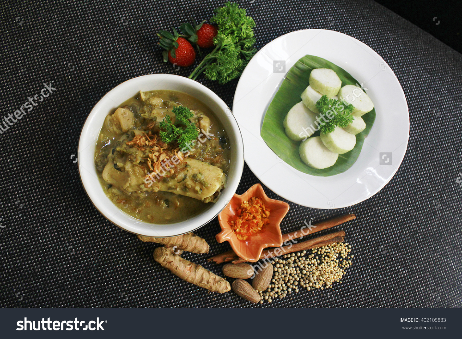 Gnarly Broth Or Kaldu Kokot In Bahasa Indonesia. Famous Food From.