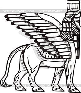Sumerian winged bull Shedu.