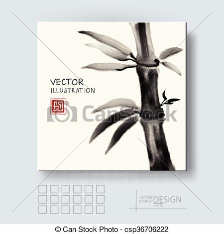 Vector Illustration of Traditional sumi.