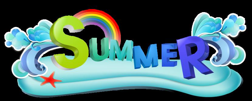 Happy summer clipart.