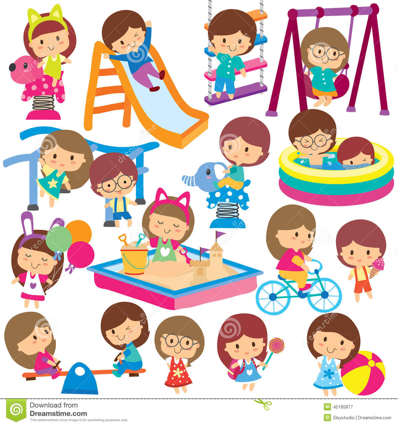Summer activities for kids clipart 8 » Clipart Station.