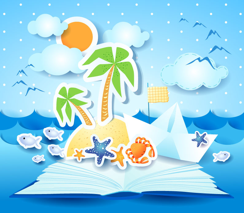 Cool Summer Clipart Background