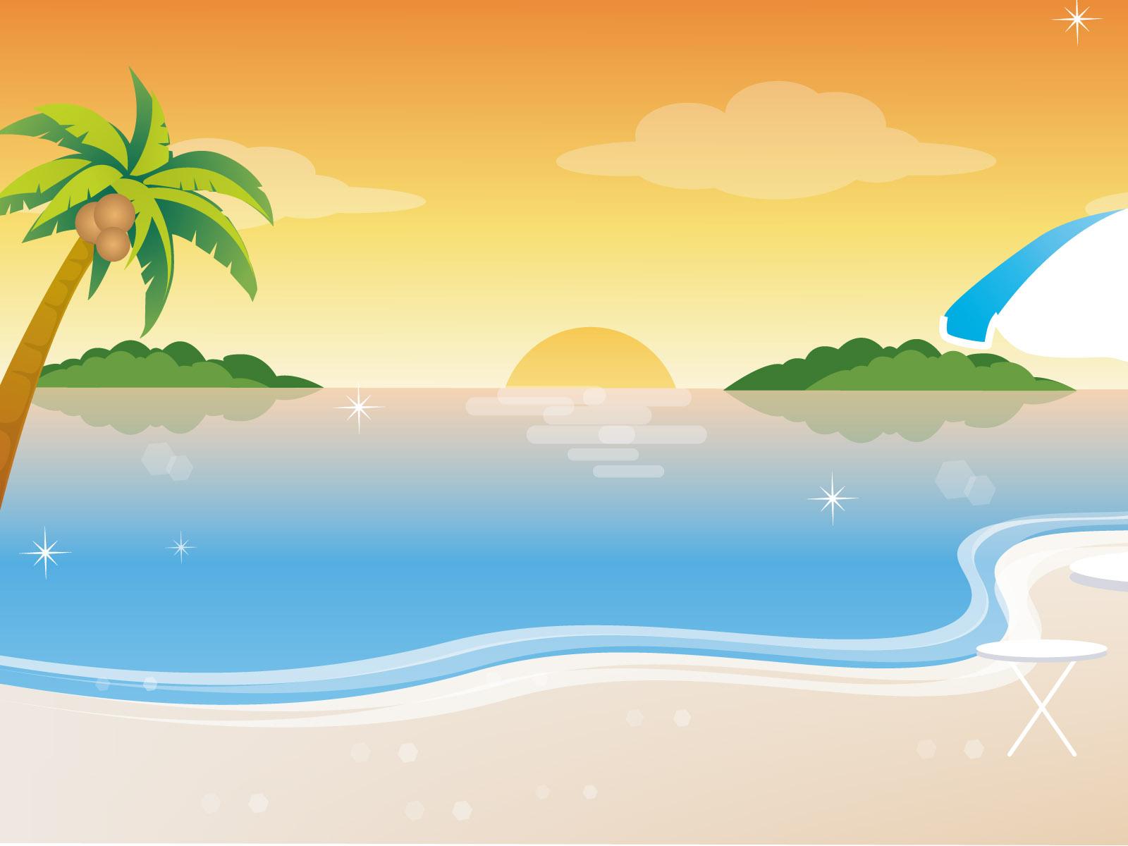Summer Background Clip Art.