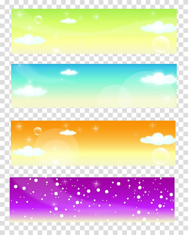 Web banner Advertising, summer background transparent.