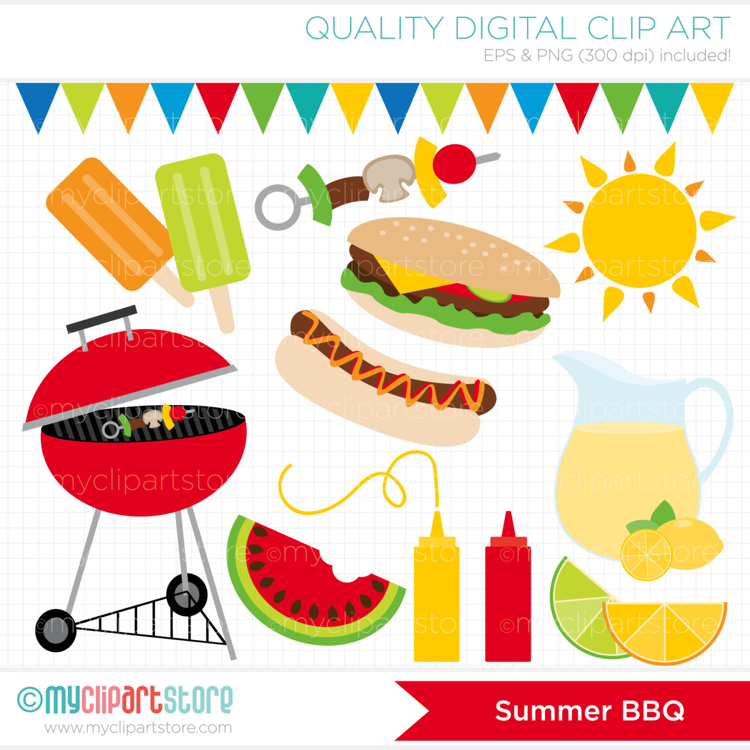 Backyard bbq party clipart.